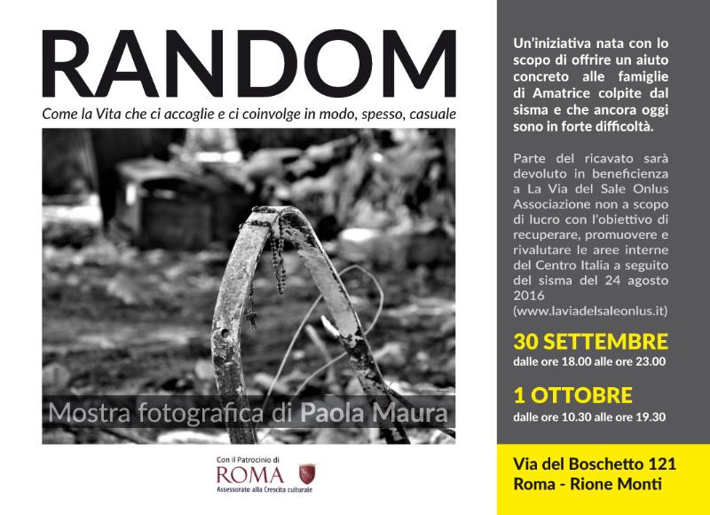 RANDOM - Mostra fotografica di Paola Maura